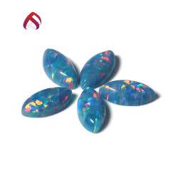 Fibras sintéticas Marquise Opal Fogo Azul pedra solta para jóias