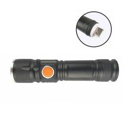 재충전용 LED 플래쉬 등, 250 루멘 매우 밝은 XPE/T6 전술상 방수 토치, Pocket-Sized, 야영하고, 하이킹하고 비상사태를 위한 Aluminumtorch
