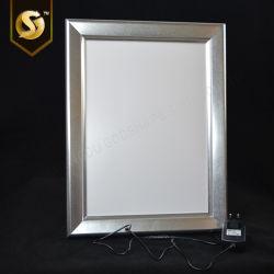 Blocco per grafici di alluminio a schiocco della foto della maschera con la casella chiara sottile chiara del LED Utra LED