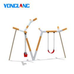 Yonglang Swing in legno personalizzato per parco giochi all'aperto con due cinture Sedili (YL31719-01)