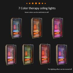 Zalen van de Sauna van de Stoom van Wellness de Draagbare Finse Houten Droge Infrarode met de Houten Thermometers van de Sauna