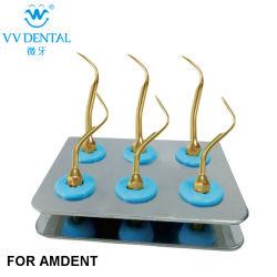 Conseils de soins dentaires ensemble mettre en place de l'air Amdent