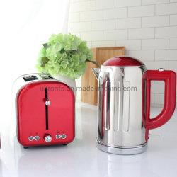 Venta caliente retro más reciente de acero inoxidable de alta calidad Electric desayuno incluyen cafetera tostadora hervidor de agua