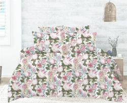 Sweet Home decoração a impressão digital de têxteis de cama de algodão definidos
