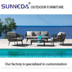 北欧様式の高級ロープウーブン 5 つ星ホテル 「 Furniture Cafe Garden furniture