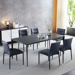 Op maat gemaakt modern meubilair metalen voetjes keramische eettafel