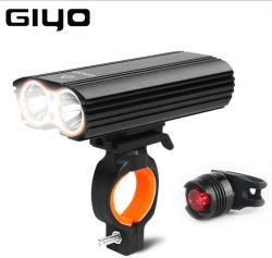2 Xm-L T6 LED Lumiere velo USB bicicletta ricaricabile LED Luci lampada torcia torcia elettrica Ciclismo Sport sicurezza luce di coda