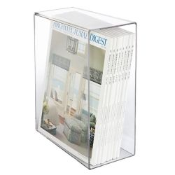 Organizador de acrílico transparente personalizado de metacrilato y soporte de almacenamiento en caso de libro/Revista/Periódico/Álbum de fotos/Folleto/Portátil