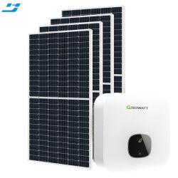 قابل للنقل على شبكة 5kw 10kw 20kw pv إنارة منزلية شمسية نظام الطاقة للوحة مع Knits