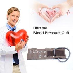 Child Double Tube Brown PU (أنبوب مزدوج بني PU) مُراقب ضغط الدم القابل لإعادة الاستخدام مراقبة أطواق BP مقاس 14-21.5 سم طوق NIBP القابل لإعادة الاستخدام للأطفال