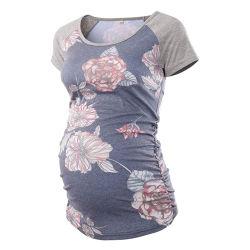 La maternità delle donne supera il breve Mama Clothes di gravidanza del manicotto della maglietta