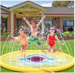170 Cm 옥외 물 실행 아이 재미 장난감 팽창식 옥외 둥근 물은 실행 매트를 뿌린다