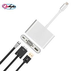 Ableiter-Kartenleser USB-C, Mikro-Ableiter-Karten-Leser-Adapter, beweglicher Typ C 3 in 1 USB-und SD/TF Karte für Kameras, intelligente Telefone, Geschäftslokal, Tablette und mehr