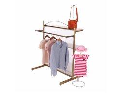 Gouden kledingrek Iron Floor Hanger Kinderkleding Shop Kleding Display Racks Dameskleding Shop Kleding Racks vloerhanger