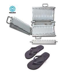 Mejor vender Diseño Flip flop Correa PVC fabricante de moldes de caucho de silicona suave Zapatilla de la parte superior del molde para máquina de inyección