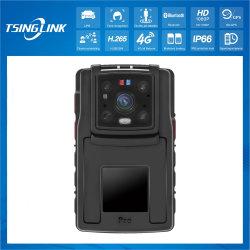 Intelligente integrierte Mikrofon-Lautsprecher 16 Megapixel Kamera GPS WiFi 4K Wireless Police Body Camera