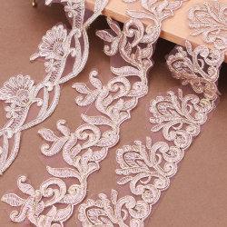 ウェディングドレスの装飾的な縫うことのための金束ねられた花嫁のベールのレースのトリム