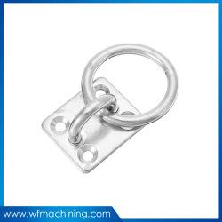OEM carré en acier inoxydable avec pivot de la plaque de l'oeil anneau soudé