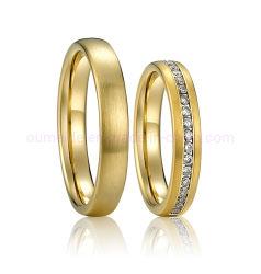 18K Toebehoren van de Ring van de Manier van de Juwelen van het gouden Plateren de Klassieke voor de Vrouw van de Man