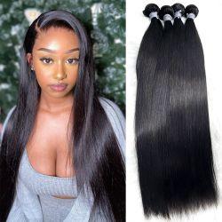 Venda por pacotes de cabelo Remy barata cutícula alinhadas Uvas 100% virgem pura tecem as extensões de cabelo humano naturais brasileiros