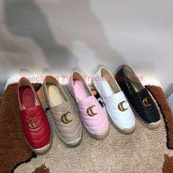 Gg Edad Estación primavera y otoño pescador zapatos hechos de paja Sheepskin dentro de los zapatos