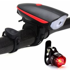 Светодиодный индикатор на велосипеде, аккумулятор USB на велосипеде с переднего освещения звуковой сигнал динамика, яркий алюминия задние фонари водонепроницаемые высокая видимость безопасности велосипедного движения легких
