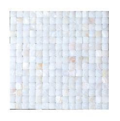 芸術はアーチの表面食堂、居間、台所Backsplashのために適した真珠色のシェルのモザイク・タイルを設計した