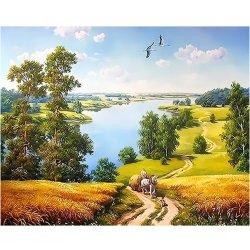 Huile sur toile personnalisée de beaux paysages de la peinture par numéro Photo Home Decor cadeau unique