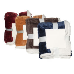 Double couche flanelle Shinny Reversiable à Sherpa jeter