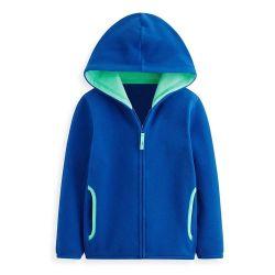 Gepersonaliseerde 100% Polyester Polar Fleece Full Zipper Up Boy's Winter Zwaargewicht kinderen Fleece Hoodie