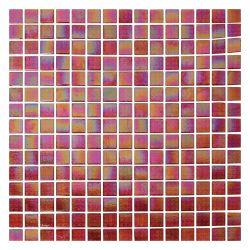 La construcción de edificios nuevos Recycleed rojo mosaico modernos decorativos de vidrio