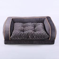 卸し売り犬のソファーベッドの防水整形外科のメモリ泡犬のベッド
