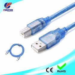 BM USB로 연결된 투명 USB2.0 케이블 차폐형 프린터 케이블