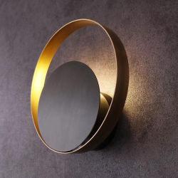 L'intérieur forme ronde classique lit Chambre côté éclairage résidentiel LED ronde escalier décoratif nordique moderne wall lamp
