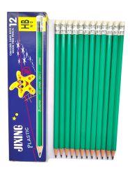 Эскиз печати логотип чертеж пластиковый зеленый графит Hb карандаш с кругом