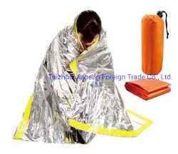 응급처치 제품 골든 & 실버 긴급 구조 열 담요 몸을 따뜻하게 유지하세요 방수 비상 담요