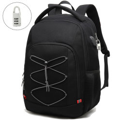 Les hommes à l'extérieur de la sécurité antivol Bagpack sac noir Fashion Sports Leisure Travel 2020 Soft gros sac à dos pour ordinateur portable personnalisé