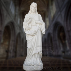 Tallado en mármol, estatuas religiosas de Jesús, los elementos de la escultura de mármol