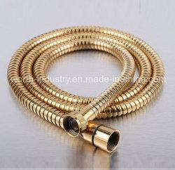 Золотистый цвет и гибкий шланг душ АКГ из нержавеющей стали (32049)