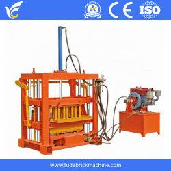 Qt4-30 Handmatig Aangedreven Kleurenasfalteermachines Brick Making Machine Hydraulische Interlocking Hol Block Wall Brick Machines