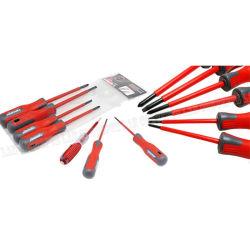 Schraubenzieher 7PCS mit magnetischem gekerbtem und Kreuzkopfbit-Elektriker-Elektroarbeit-Reparatur-Hilfsmittel-Installationssatz-Schraubenzieher-Set