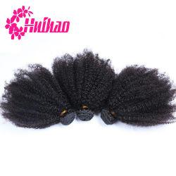 Haute qualité Afro Kinky mongol vierges les cheveux bouclés, bon marché cheveux mongol Morceau, non transformés Virgin 7A de l'homme mongol