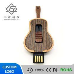 Горячий продаж скрипка формы промо-сувениры из дерева флэш-накопитель USB для массовых грузов