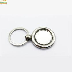 De forme ronde bague Spinner clé vierge pour cadeau de promotion/Design personnalisé