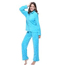 Los adultos invierno cálido Pijama Mujer Homewear de lana gruesa Inicio Ropa Pijama conjunto
