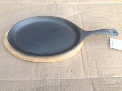 De ovale Koekepan Fajita van het Gietijzer/de Pan van de Snikhete dag met Handvat
