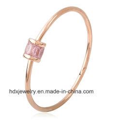 La moda femenina chapado en joyería 18k rose gold Bracelet Pulsera de acero de titanio