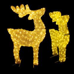 Для использования вне помещений коммерческих декоративную тему Рождества LED оленей фонари