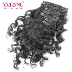 100% Top Real Human Hair Clip in Haarverlängerungen