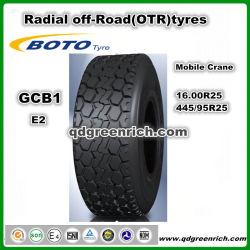 إطارات سيارات China Tire Boto / Hilo Brand Off-Road Tire RaDIAL OTR Tire 16.00r25 (445/95R25) إطار الرافعة المحمولة E2 Gcb1